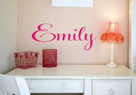 dazzling name sign custom name decal vinyl decal wall decals kids room throughout dazzling teen girl