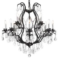 wrought iron crystal chandelier 12 light
