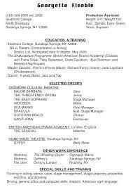 Theatre Resume Template Child Actor Resume Sample Theatre Cv