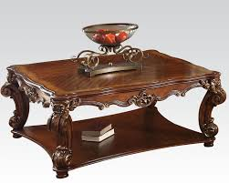 traditional square coffee table vendome cherry by acme ac82