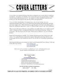 Personal Business Cover Letter Format Example For Job