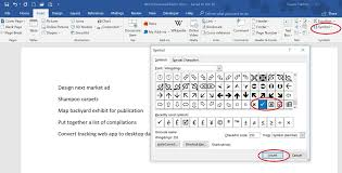 Microsoft Word Wingdings Chart 5 Ways To Insert A Checkmark Into Office Documents
