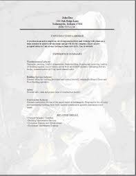 Resume Builder Construction Worker Best Examples For Your Throughout