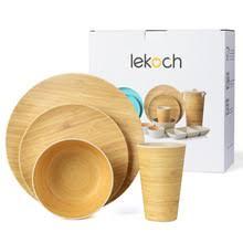 Lekoch бамбуковое волокно <b>4</b> шт. для 1 человека, <b>набор</b> для ...