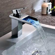 led bathroom faucets photo 5 led waterfall bathroom sink faucet