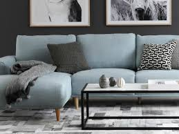 oz living furniture. brody 25 seater sofa in light blue from oz design oz living furniture