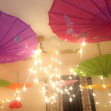 umbrella and balloons room decoration