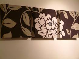 floral art wall decor the magic of black large three frames leaf flower dark brown simple  on wall art decor with wall art new inpsire art wall decor modern decorations for home