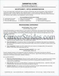 Professional Examples Resumes Resume Objective For A Receptionist