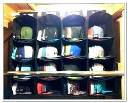 hat organizer for closet baseball storage ideas rack