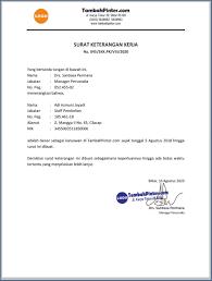 Contoh sk ( surat keputusan ) pengangkatan pegawai akutansi. Contoh Surat Keterangan Kerja Tambah Pinter