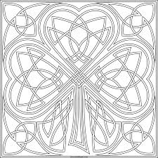 Knotwork Shamrock To Print And Color