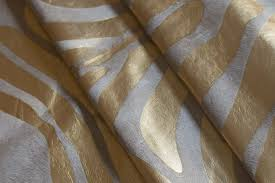 cowhide rug gold zebra metallic on white xl 42 sqft
