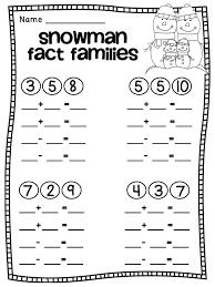Snowman Fact Families FREE worksheets | Math | Pinterest | Fact ...