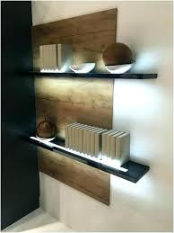 Floating Shelves With Built In Led Lights Simple Shelves With Lighting Floating Shelf With Lights Floating Shelves