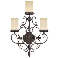 candelabra three light wall sconce imperial bronze