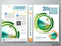 Presentation Flyers Brochure Design Template Vector Annual Report Flyers Poster
