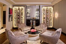 los angeles living room lounge chairs with beach style wall sconces wine cellar contemporary and
