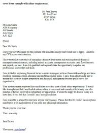 examples of cover letters of resume   Cover Letter Examples       resume cover letter salary requirements examples
