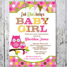 Free Baby Shower Invitation Pink Background Rainbow Yellowe Green White  Brown Polka Dot Colorfull Owl Themed Owl Themed Baby Shower Decorations ...