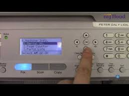 ® (windows vista ) click the start button, control panel, hardware and sound, and then printers. Konica Minolta Bizhub 20 How To Get Meter Readings Youtube
