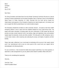 Sample Formal Fundraising Letter Template Free Download