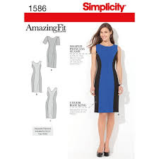 Simplicity Patterns Unique Simplicity Pattern 48 Misses' And Plus Size Amazing Fit Dress