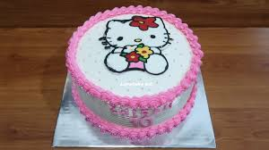Dekorasi Kue Ulang Tahun Simple Tart Hello Kitty Cake Youtube