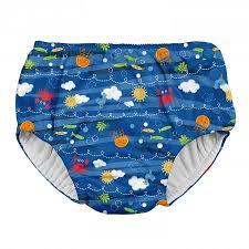 Iplay Snap Reusable Absorbent Swim Diaper Royal Blue Sea Friends