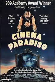 a filmmaker recalls his childhood when he fell in love the  cinema paradiso 1988