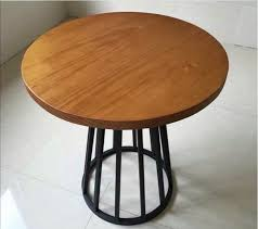 iron wood circular dinette american retro large round table restaurant cafe home pine coffee table