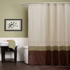 lush decor mia green brown shower curtain from hayneedle com