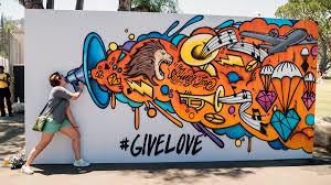 give love graffiti mural