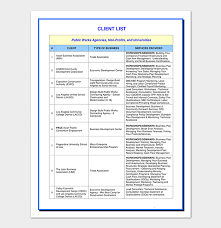 Client List Template - 17+ In (Word, Excel & Pdf)