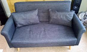 argos home 2 seater fabric sofa in a box flat pack charcoal