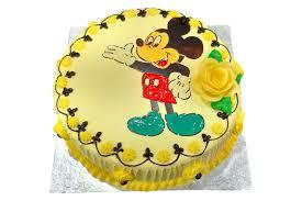 er cream mickey mouse cake vannila