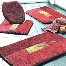 red bathroom rugs rug bath and reviews mat pedestal set chevron round r
