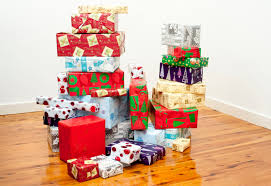 Decorative Holiday Boxes Photo of Gift boxes symbol of joy celebrated at Christmas Free 48