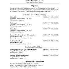 Resume Samples Doctors Circlewriter Com