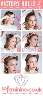 How Todo Hair Style best 25 victory rolls tutorial ideas only 50s hair 1528 by wearticles.com