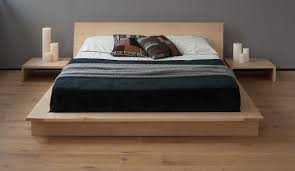oak platform bed simple