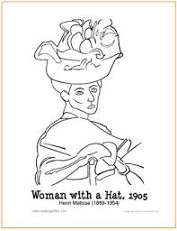 Woman With A Hat Free Printable Coloring Page