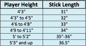 Selecting A Field Hockey Stick