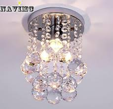 home design hallway ceiling lamps energy saving led luxury crystal chandelier simple small