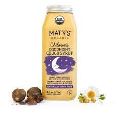 Matys Organic Goodnight Cough Syrup For Children Matys