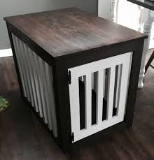 wood dog crate end table