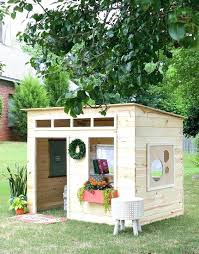 backyard wooden playhouse kids outdoor with also plans playhouses for