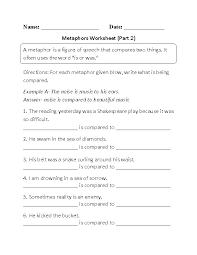 Metaphor Worksheets | Homeschooldressage.com