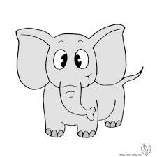 Disegno Di Elefante A Colori Per Bambini Disegnidacolorareonlinecom