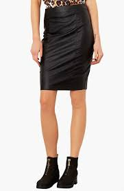 black leather pencil skirts top faux leather pencil skirt